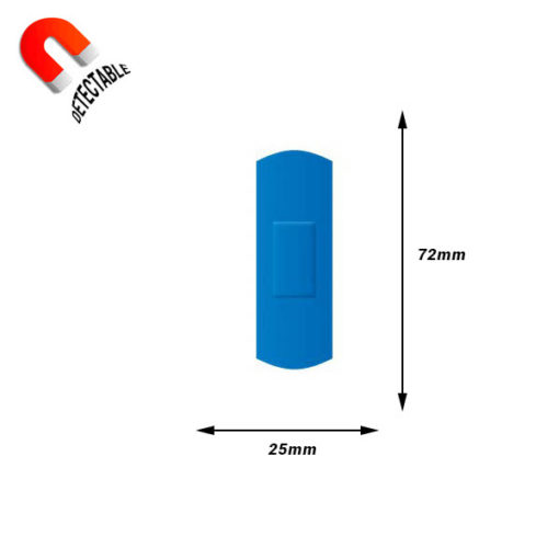 Tiritas detectables 25mm x 72mm
