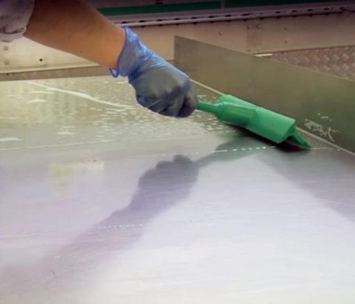 Haragán de mesa ultra higiénico verde