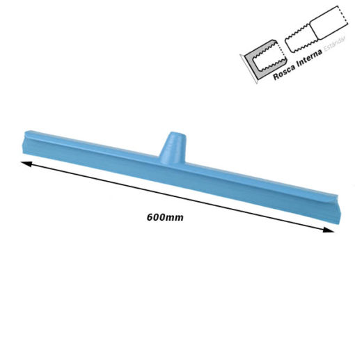 Haragán ultra higiénico 600 mm Rosca Interna