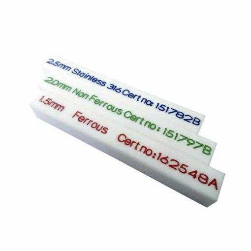 Patrón de calibración tipo barra PTFE