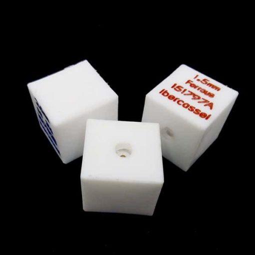 Patrón de calibración tipo cubo PTFE