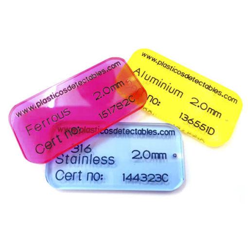 Patrón de calibración tipo tarjeta rígida