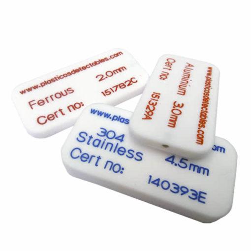 Patrón de calibración tipo tarjeta rígida PTFE