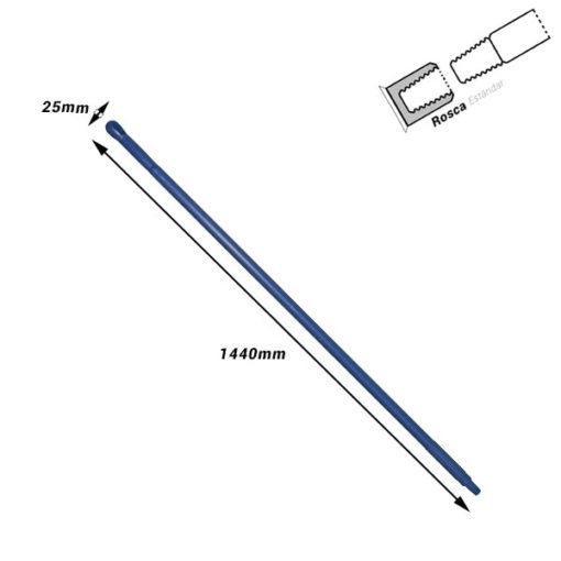 Palo ergonómico de plástico Medidas