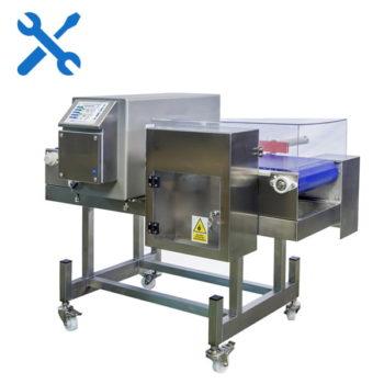 Calibración Detector de metales con cinta transportadora