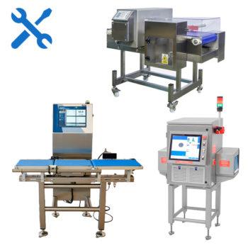 Calibración y verificación de detectores de metales, rayos x y control de peso