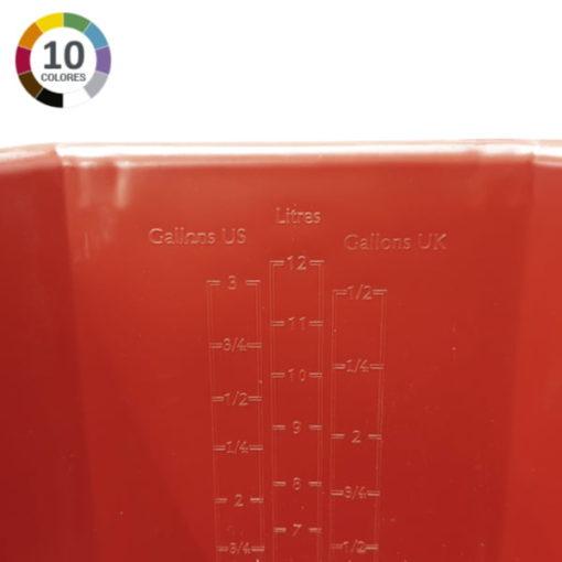 Cubo ultra higiénico de 12L - Graduado