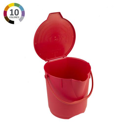 Cubo ultra higiénico de 12L con tapa - Rojo
