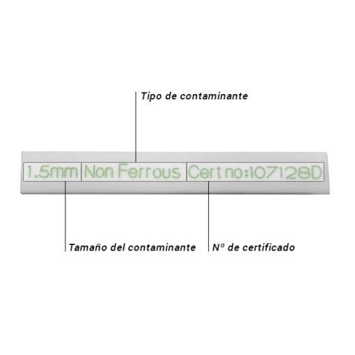 Patrón PTFE barra Caracteristicas